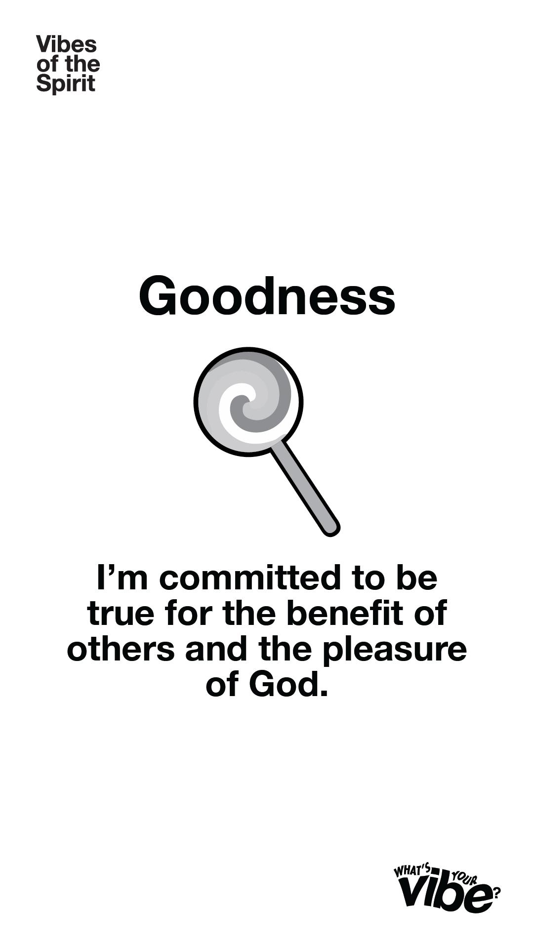 Goodness Declaration Card