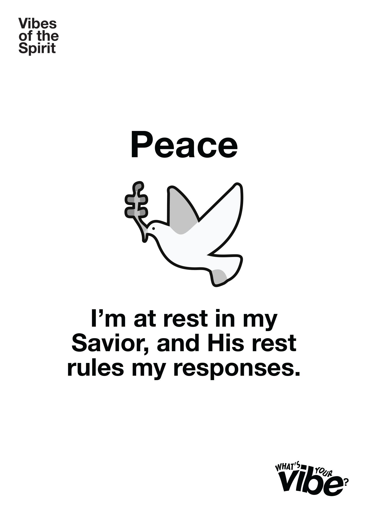 Peace Declaration Card