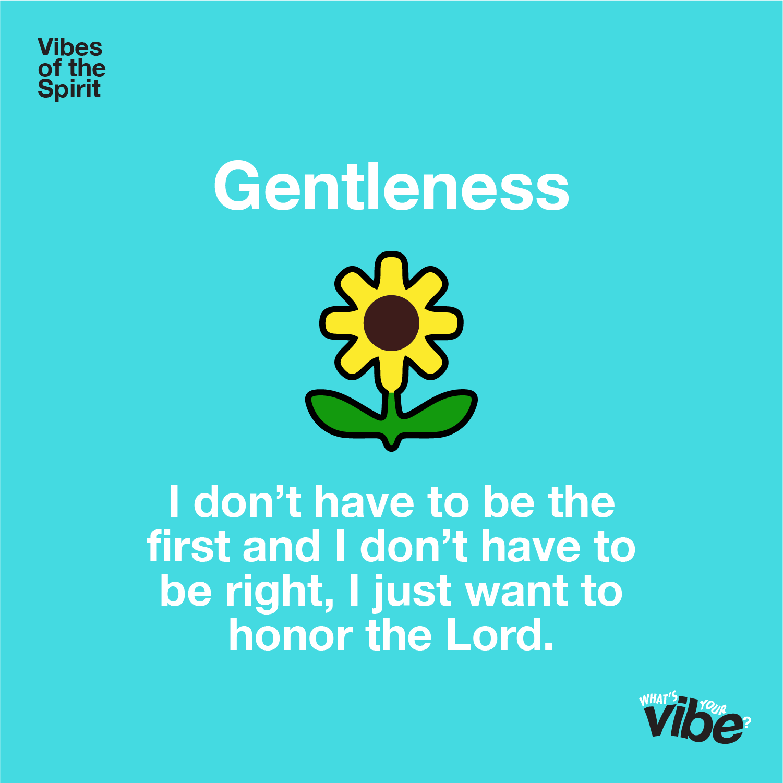 Gentleness Declaration Card